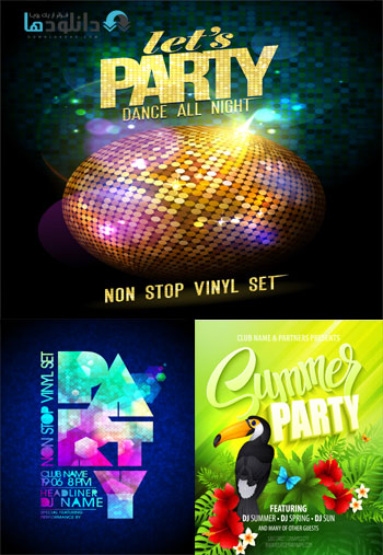 party time vector  دانلود تصاویر وکتور  Amazing ShutterStock Party Poster