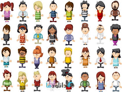 people vecotr  دانلود تصاویر وکتور  People Vector Collection