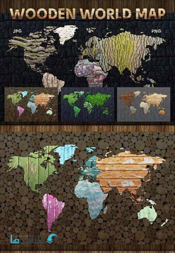 wooden-world-map