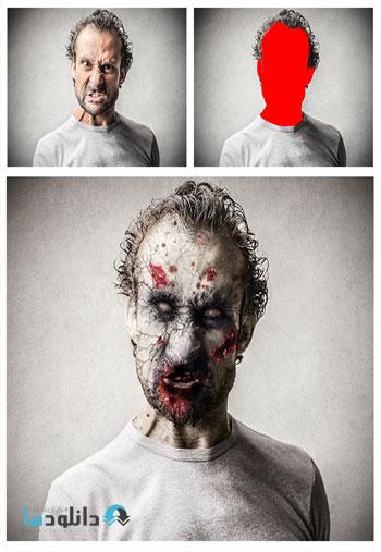 zombie action  دانلود اکشن فتوشاپ GraphicRiver Zombie Photoshop Action