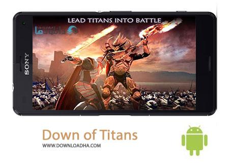 Down of Titans Cover%28Downloadha.com%29 دانلود بازی استراتژیک و زیبای سحر تایتان ها Dawn of Titans v1.3.1 برای اندروید