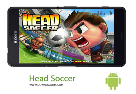 Head Soccer Cover%28Downloadha.com%29 دانلود بازی مهیج و زیبای فوتبال Head Soccer v3.4.9.2 برای اندروید