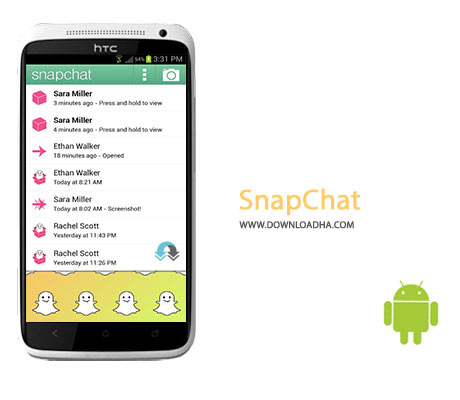 SnapChat Cover%28Downloadha.com%29 دانلود نرم افزار به اشتراک گذاری تصاویر Snapchat v9.15.1.0 برای اندروید