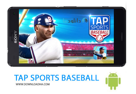 TAP SPORTS BASEBALL Cover%28Downloadha.com%29 دانلود بازی مهیج بیس بال TAP SPORTS BASEBALL V1.5.3 برای اندروید