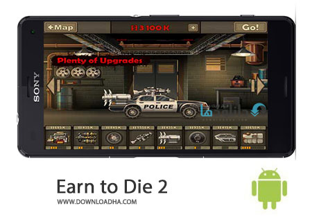 Earn to Die 2 Cover%28Downloadha.com%29 دانلود بازی اکشن و زیبای نبرد با زامبی ها Earn to Die 2 v1.0.45 برای اندروید