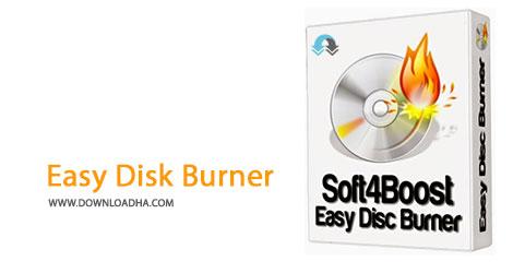 Easy Disk Burner Cover%28Downloadha.com%29 دانلود نرم افزار رایت آسان سی دی Soft4Boost Easy Disc Burner v3.7.7.225