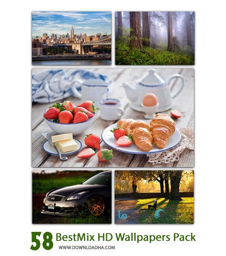 BestMix HD Wallpapers Pack Cover%28Downloadha.com%29 دانلود 58 والپیپر متنوع و با کیفیت BestMix HD Wallpapers Pack