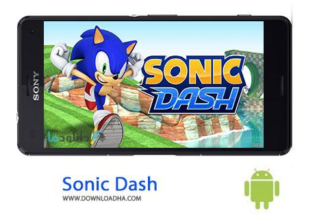 Sonic Dash Cover%28Downloadha.com%29 دانلود بازی زیبای سونیک دش Sonic Dash v2.4.0.Go برای اندروید