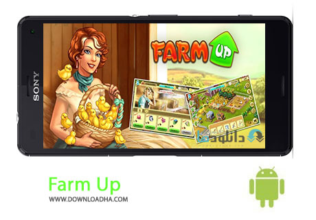 Farm Up Cover%28Downloadha.com%29 دانلود بازی مدیریتی مزرعه داری Farm Up v4.9 برای اندروید