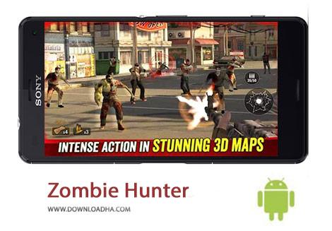 Zombie Hunter Cover%28Downloadha.com%29 دانلود بازی اکشن شکارچی زامبی Zombie Hunter Apocalypse 2.1 برای اندروید