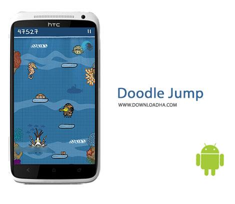 Doodle Jump Cover%28Downloadha.com%29 دانلود بازی زیبای دودل جامپ Doodle Jump 3.8 برای اندروید