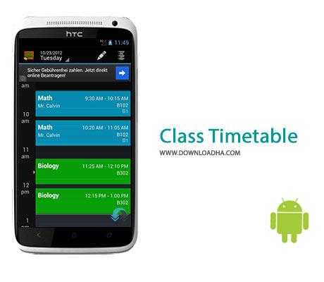 Class Timetable Cover%28Downloadha.com%29 دانلود نرم افزار مدیریت کارهای مدرسه و دانشگاه Class Timetable 2.0 برای اندروید