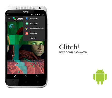 Glitch%21 Cover%28Downloadha.com%29 دانلود نرم افزار اضافه کردن افکت های جالب به تصاویر Glitch! v3.1.7 برای اندروید