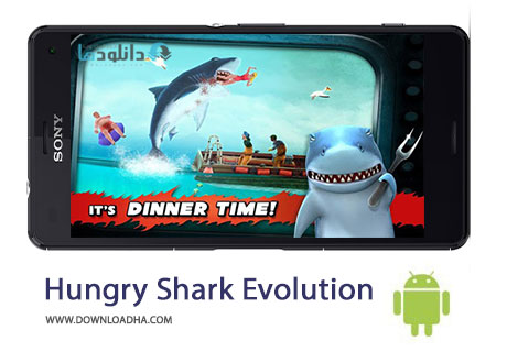 Hungry Shark Evolution Cover%28Downloadha.com%29 دانلود بازی اکشن کوسه گرسنه Hungry Shark Evolution v3.4.2 برای اندروید