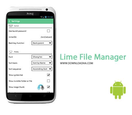 Lime File Manager Cover%28Downloadha.com%29 دانلود نرم افزار مدیریت فایل Lime File Manager v1.5.3 برای اندروید