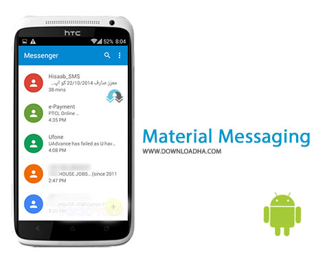 Material Messaging Cover%28Downloadha.co%29 دانلود نرم افزار پیام رسان حرفه ای Material Messaging v1.3.4.5 برای اندروید