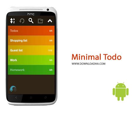 Minimal Todo Cover%28Downloadha.com%29 دانلود نرم افزار مدیریت کارهای روزانه Minimal Todo 1.1 برای اندروید
