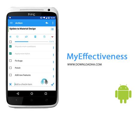 MyEffectiveness Cover%28Downloadha.com%29 دانلود نرم افزار مدیریت کارهای روزانه MyEffectiveness v0.17.4 برای اندروید