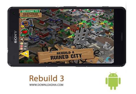 Rebuild 3 Cover%28Downloadha.com%29 دانلود بازی استراتژیک و زیبای دارودسته زامبی ها Rebuild 3 Gangs of Deadsville v1.3.6 برای اندروید