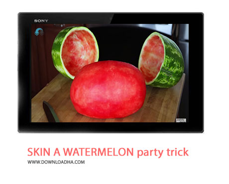 SKIN A WATERMELON party trick Cover%28Downloadha.com%29 دانلود کلیپ ترفند زیبای کندن پوست هندوانه