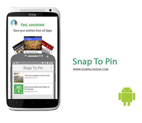 Snap To Pin Cover%28Downloadha.com%29 دانلود نرم افزار یادداشت برداری سریع Snap To Pin v1.0.0.0 برای اندروید