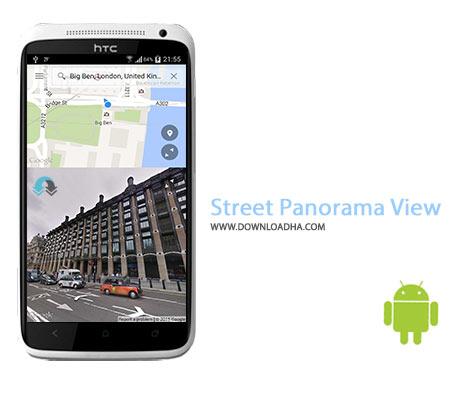 Street Panorama View Cover%28Downloadha.com%29 دانلود نرم افزار مختصات خیابانی Street Panorama View v2.0.9 برای اندروید