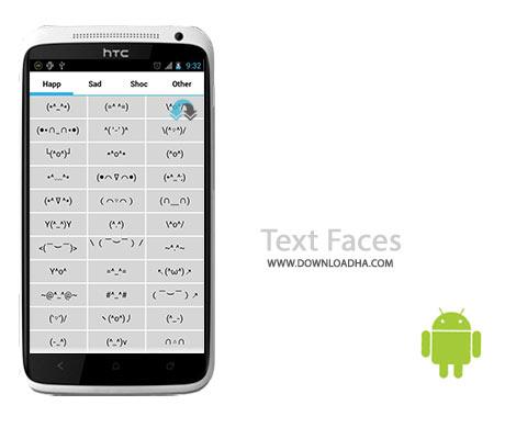 Text Faces Cover%28Downloadha.com%29 دانلود کیبورد اشکال مختلف Text Faces v1.4 برای اندروید