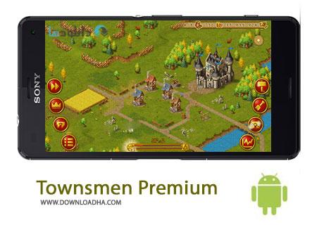 Townsmen Premium Cover%28Downloadha.com%29 دانلود بازی مهیج و استراتژیک Townsmen Premium v1.6.2 برای اندروید