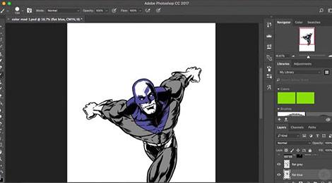 دانلود-فیلم-آموزش-Photoshop-CC-Coloring-Comic-Characters