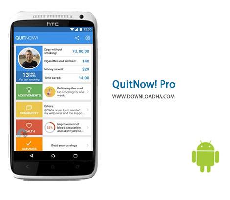 دانلود نرم افزار ترک سیگار QuitNow! Pro 5.66.1 – اندروید