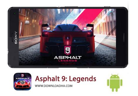 دانلود بازی آسفالت ۹ برای اندروید Asphalt 9: Legends 1.4.3a