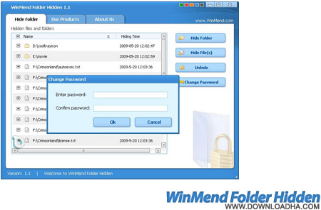 winmend folder hidden