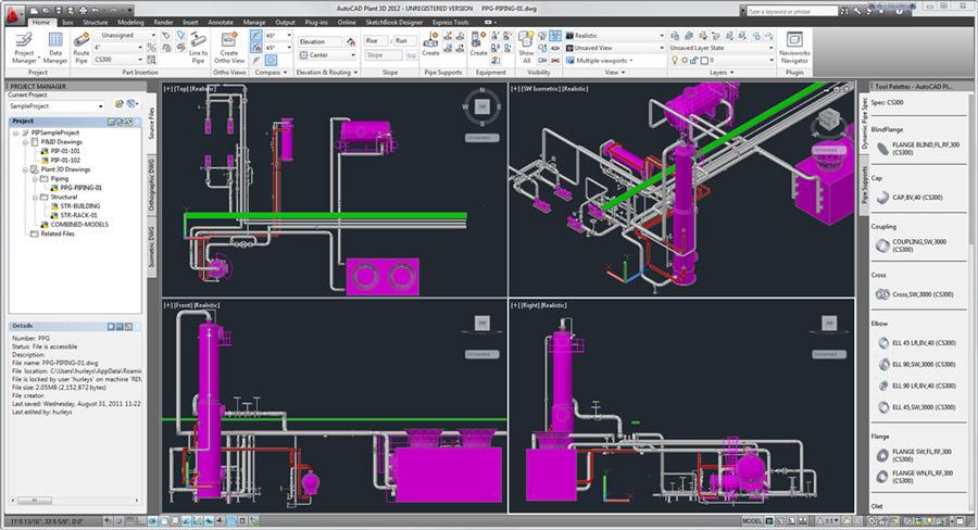دانلود Autodesk AutoCAD Plant 3D 2020 – طراحی سه بعدی پروژه های کارخانه ای