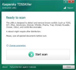 اسکرین-شات-Kaspersky-TDSSKiller