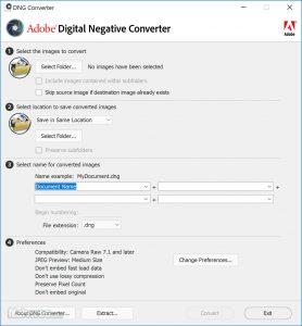 اسکرین-شات-Adobe-DNG-Converter