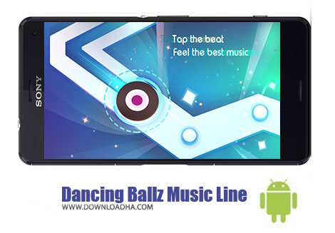 دانلود بازی موزیکال خط موسیقی برای اندروید Dancing Ballz Music Line v1.5.2
