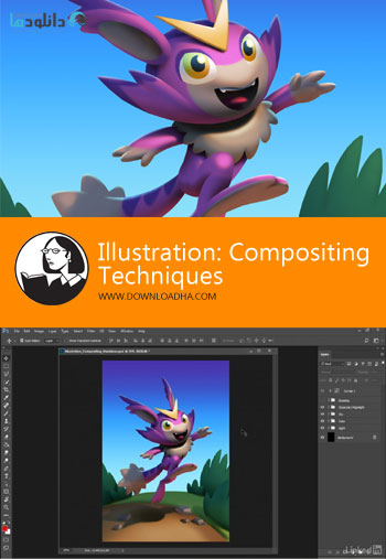 آمورش-ویدیویی-lynda-illustration-compositing-techniques