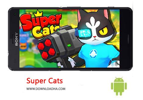 دانلود بازی ماجرایی گربه های برتر برای اندروید Super Cats 1.0.18