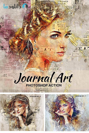 اکشن-فتوشاپ-journal-art-photoshop-action