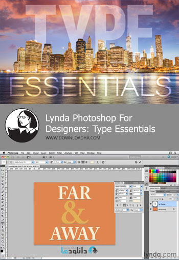 آموزش-کار-با-متن-photoshop-for-designers-type-essentials