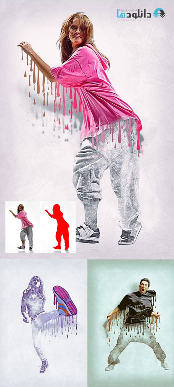 اکشن-فتوشاپ-wet-paint-photoshop-action