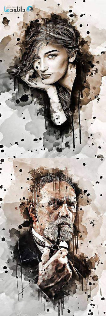 اکشن-فتوشاپ-abstract-ink-art-photoshop-action
