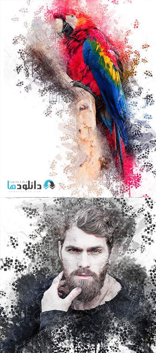 اکشن-فتوشاپ-pixelated-art-photoshop-action