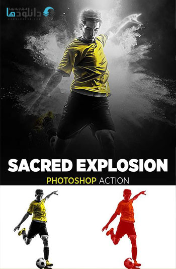 اکشن-فتوشاپ-sacred-explosion-photoshop-action