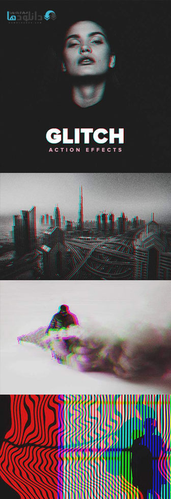 اکشن-فتوشاپ-glitch-photoshop-action