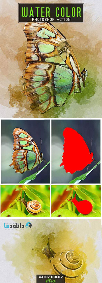 اکشن-فتوشاپ-water-color-photoshop-action