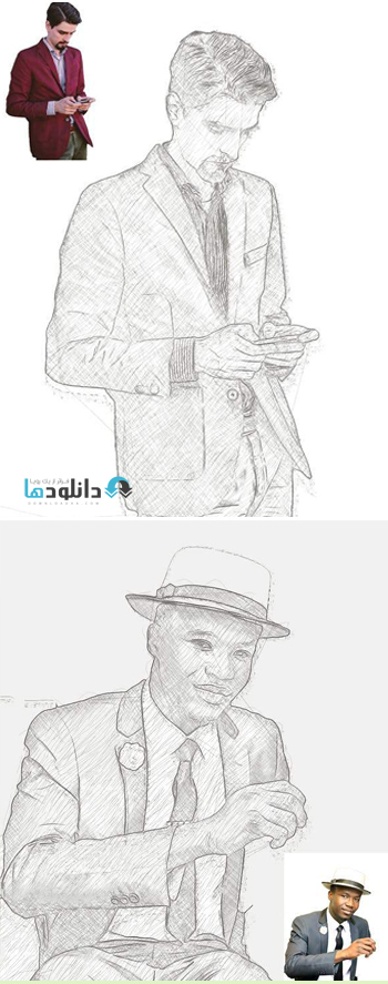 اکشن-فتوشاپ-drawing-essential-photoshop-action