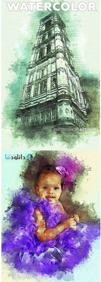 اکشن-فتوشاپ-watercolor-photoshop-action