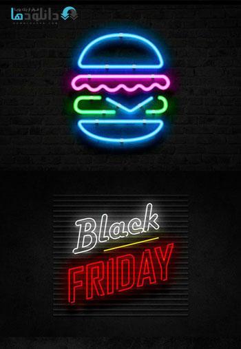دانلود مجموعه استایل فتوشاپ Neon Underground Photoshop Effect