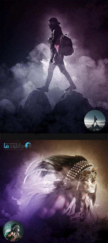 اکشن-فتوشاپ-smoke-clouds-photoshop-action